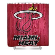 Miami Heat Barn Door Shower Curtain