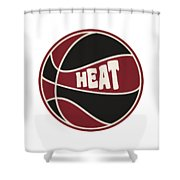 Miami Heat Retro Shirt Shower Curtain