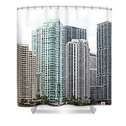 Miami Highrises Shower Curtain