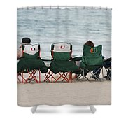 Miami Hurricane Fans Shower Curtain