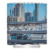 Miami Marina Shower Curtain