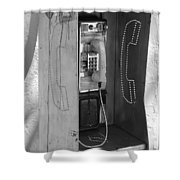Miami Pay Phone Shower Curtain