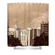 Miami  Sepia Sky Shower Curtain