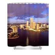 Miami Skyline 3 Shower Curtain