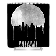 Miami Skyline Black Shower Curtain