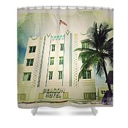 Miami South Beach Ocean Drive 3 Shower Curtain