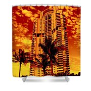 Miami South Pointe IIi Shower Curtain
