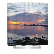 Miami Sunrise Part 1 Shower Curtain