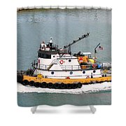 Miami Tug Shower Curtain