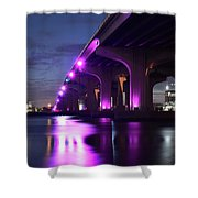 Miami Under The 395 At Night Shower Curtain