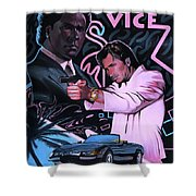 Miami Vice Shower Curtain