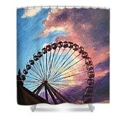 Mia's Ferris Wheel Shower Curtain