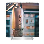 Mic Check 1 2 3 Shower Curtain by Scott Norris