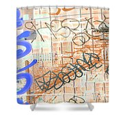 Mic Mouth Inverted Shower Curtain