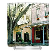 Micanopy Storefronts Shower Curtain