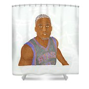 Michael Beasley  Shower Curtain