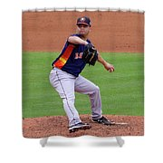 Michael Feliz Houston Astro Pitcher Shower Curtain