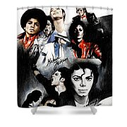 Michael Jackson - King Of Pop Shower Curtain