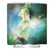 Michael Jackson 15 Shower Curtain by Miki De Goodaboom