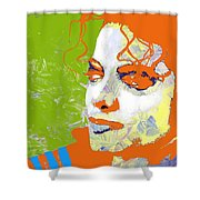 Michael Jackson Green And Orange Shower Curtain