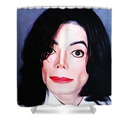 Michael Jackson Mugshot Shower Curtain by Bill Cannon