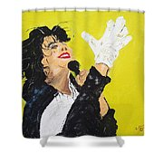 Michael Jackson The Hand Shower Curtain