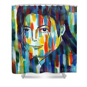 Michael Jackson  The Man In Color Shower Curtain