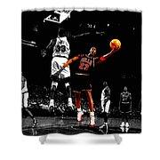 Michael Jordan Left Hand Shower Curtain