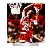 Michael Jordan Magical Dunk Shower Curtain