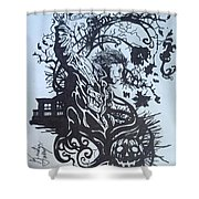 Michael Myers Abstract Shower Curtain