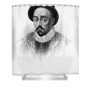 Michel Eyquem De Montaigne Shower Curtain by Granger