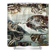 Michelangelo: Adam Shower Curtain