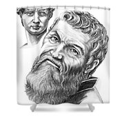 Michelangelo And David Shower Curtain