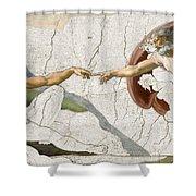 Michelangelo Creation Digital Shower Curtain
