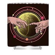 Michelangelo Space  Shower Curtain