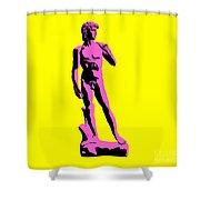 Michelangelos David - Punk Style Shower Curtain by Pixel Chimp