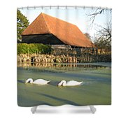 Michelham Priory Barn Shower Curtain