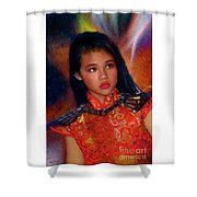 Michelle Ahl Shower Curtain