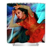 Michelle Ahl Pensive Moment Shower Curtain