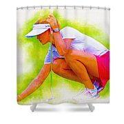 Michelle Wie Of Usa Lined Her Ball Shower Curtain