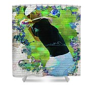 Michelle Wie Street Art Shower Curtain