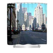 Michigan Ave Tall Shower Curtain