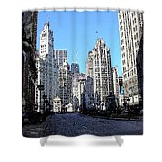 Michigan Ave Wide Shower Curtain