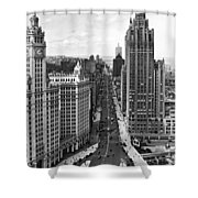 Michigan Avenue In Chicago Shower Curtain