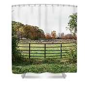 Michigan Farm And Fence  Shower Curtain