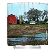 Michigan Farm Shower Curtain