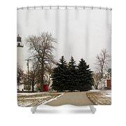Michigan Lighthouse Shower Curtain