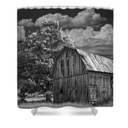 Michigan Old Wooden Barn Shower Curtain