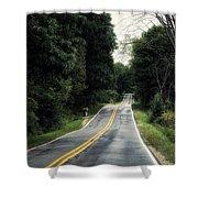 Michigan Rural Roadway In September Shower Curtain
