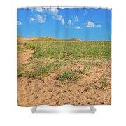Michigan Sand Dune Landscape In Summer Shower Curtain